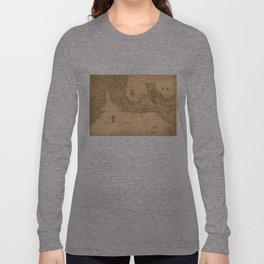 Vintage Map of Panama (1800) Long Sleeve T-shirt