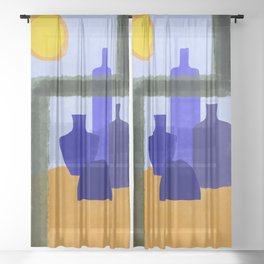 Vases in the sun Sheer Curtain