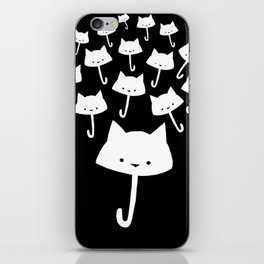 minima - cat rain iPhone Skin