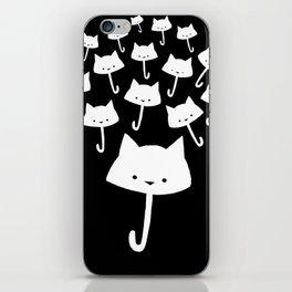 minima - cat rain iPhone Skin