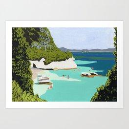 Cosy bay Art Print