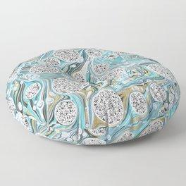 Ocean Surf Gold Marble Wave Summer Gems Floor Pillow