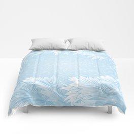 Winter background Comforters