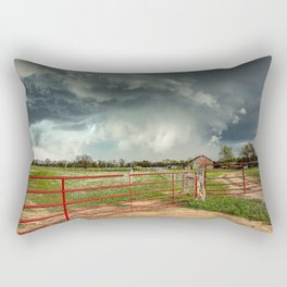 The Red Gates - Storm Passes By Farm in Kansas Rectangular Pillow