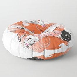 Red Kitsune Floor Pillow