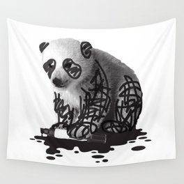 WANT TO BE A PANDA - cute animal artwork Wall Tapestry