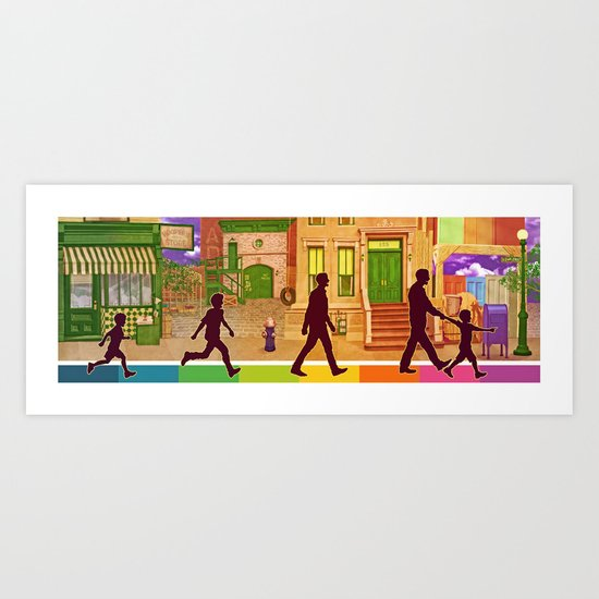 The Street I Grew up On Art Print