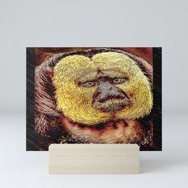 Primate Models: White-faced Saki monkey 01 Mini Art Print