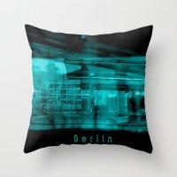 berlin Throw Pillows featuring Berlin by Laake-Photos