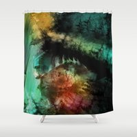 abyss Shower Curtains featuring abyss by alnavasord