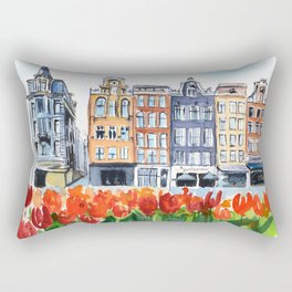 Amsterdam watercolor Rectangular Pillow