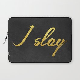 I slay ( gold typography) Laptop Sleeve
