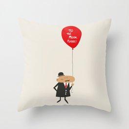 To the moon, please Throw Pillow