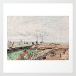 Camille Pissarro 1830-1903 THE PIER AND HARBOUR SEMAPHORE Art Print