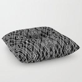 Art Deco Black and White Floor Pillow