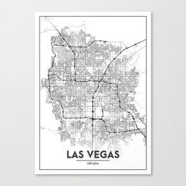 Minimal City Maps - Map Of Las Vegas, Nevada, United States Canvas Print
