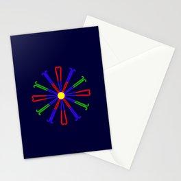 Field Hockey Stick Design Stationery Cards