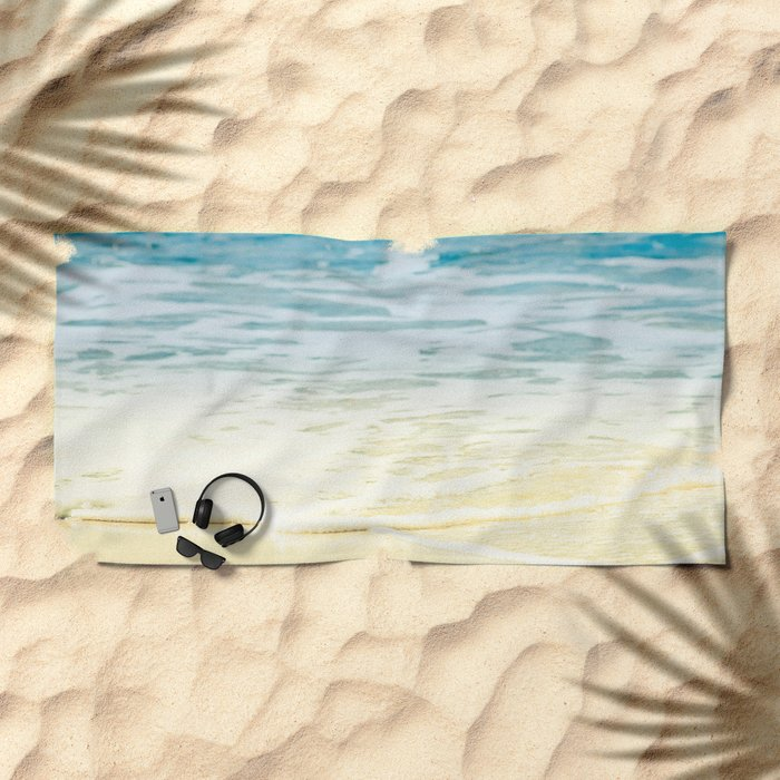 Kapalua Beach dream colours sparkling golden sand seafoam Maui Hawaii Beach Towel