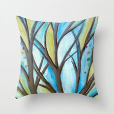 Spreading my branches Throw Pillow