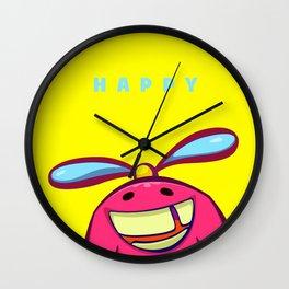 Happy mascot Wall Clock
