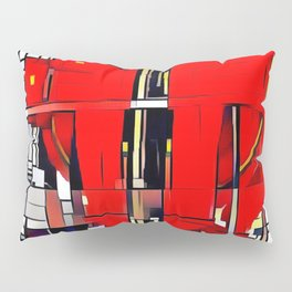 Cubism Elevator Pulley Pillow Sham