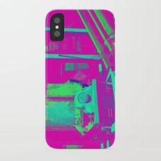 Industrial Abstract Purple iPhone X Slim Case