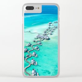 Water vila on Maldives Clear iPhone Case