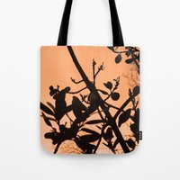 positive Tote Bags featuring Positive by AlexinaRose