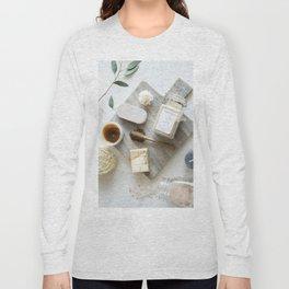 Spa Art Marble Background Long Sleeve T-shirt