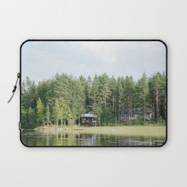 Cabin by the lake in Finland Laptop Sleeve