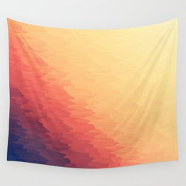 Orange Peach Ombre Wall Tapestry