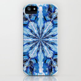 Blue Snowflake iPhone Case