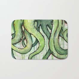 Cthulhu Green Tentacles Bath Mat