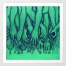 Storms (Green) Art Print