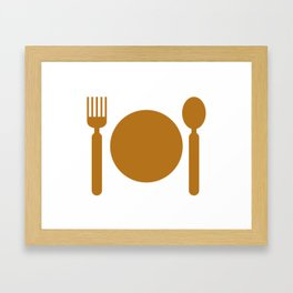 plate with cutlery Framed Art Print
