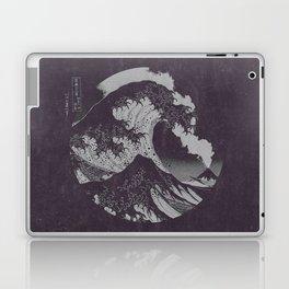 The Great Wave off Kanagawa Black and White Laptop & iPad Skin