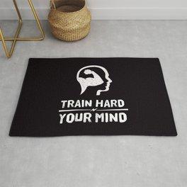 Train Hard Your Mind Rug