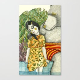 Unuasal Couples Canvas Print