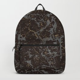 Crystallized gold stone texture Backpack