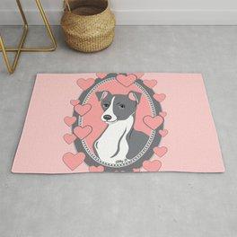 Italian Greyhound Love Rug