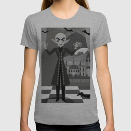 evil bald vampire T-shirt