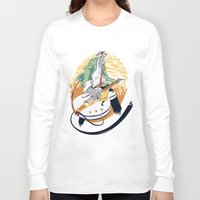 falcon Long Sleeve T-shirts featuring White Falcon by Oxana-Milka