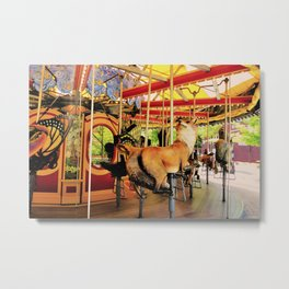 Fox Carousel Boston Greenway Carnival Merry-go-round Metal Print