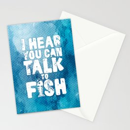 Aquaman - I hear you can talk to fish Stationery Cards