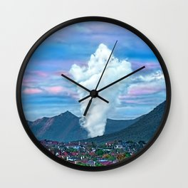Cold Winter Morning Spectre Over Phoenix Wall Clock