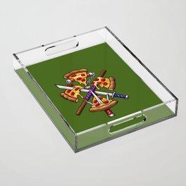 Ninja Pizza Acrylic Tray