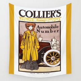 Collier's Automobile Number 1903 Wall Tapestry