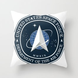 United States Space Force Logo Throw Pillow