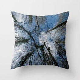 Loamhole Dingle Treetops Throw Pillow