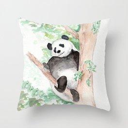 Panda, Hanging Out Throw Pillow